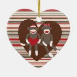 Sock Monkeys in Love Valentine's Day Heart Gifts