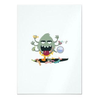 Sock Monster 11 Cm X 16 Cm Invitation Card