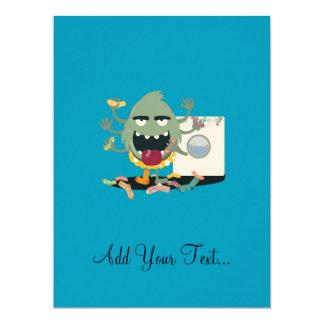 Sock Monster 17 Cm X 22 Cm Invitation Card