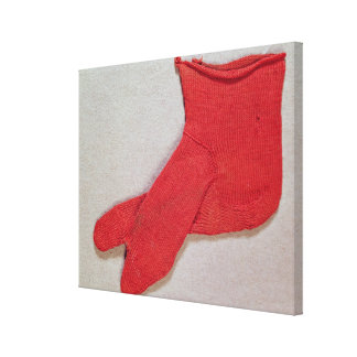 Sock, one of a pair from Egypt, Egypto-Roman perio Canvas Print