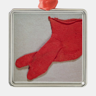 Sock, one of a pair from Egypt, Egypto-Roman perio Christmas Ornament