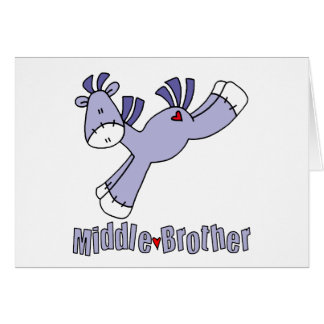 Sock Pony Middle Brother Stationery Note Card