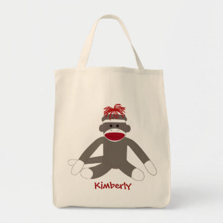 Sock Silly Monkey Personalized Bag
