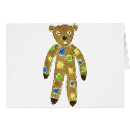 Sock Teddy Bear Greeting Card