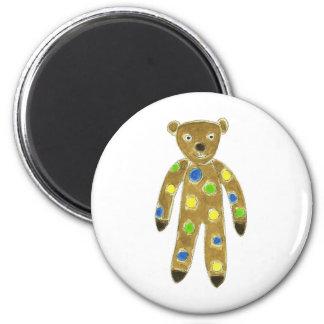 Sock Teddy Bear 6 Cm Round Magnet