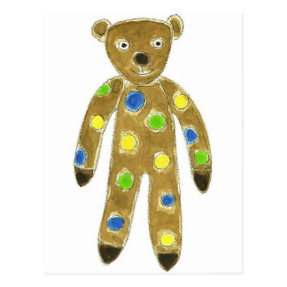 Sock Teddy Bear Postcard