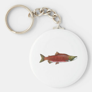 Sockeye Salmon Key Ring