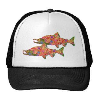 Sockeye Salmon Modern Art Image Mesh Hats