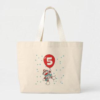 Sockmonkey 5th Birthday Tote Bags