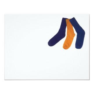 Socks 11 Cm X 14 Cm Invitation Card