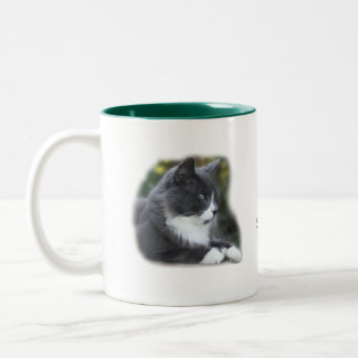 Socks Cat Mug- customize Two-Tone Coffee Mug