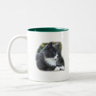 Socks Cat Mug- customize Two-Tone Mug