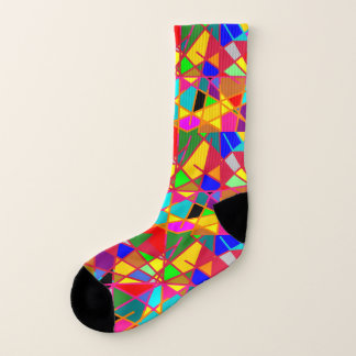 Socks: Crazed Stained Glass Effect. 1