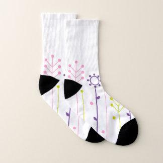 Socks white Meadow ethno 1