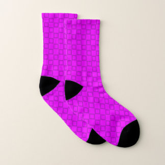 Socks with classic purple and violet design 1