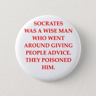 socrates 6 cm round badge