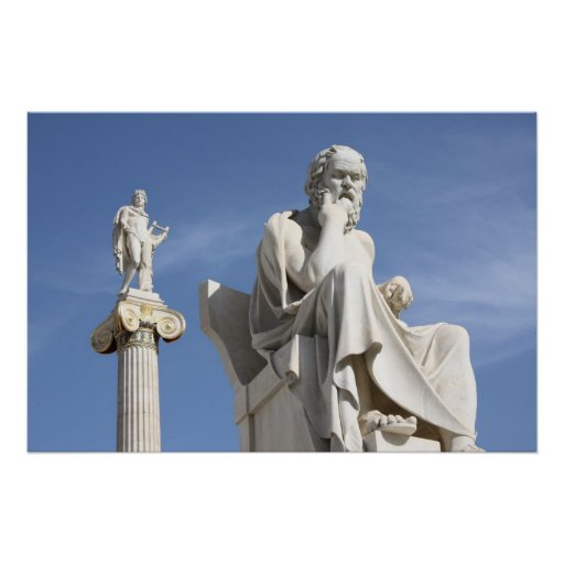 Socrates and Apollo Poster
