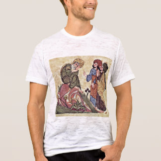 Socrates And Two Students By Meister Des Al-Mubash T-Shirt