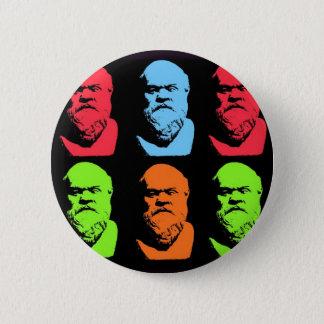 Socrates Collage 6 Cm Round Badge