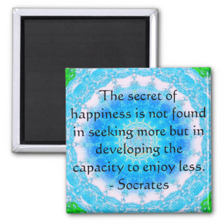 Socrates inspirational quote about Minimalism Magnet