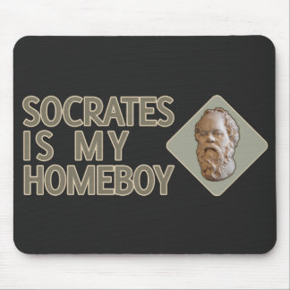 Socrates is my Homeboy Mouse Pads