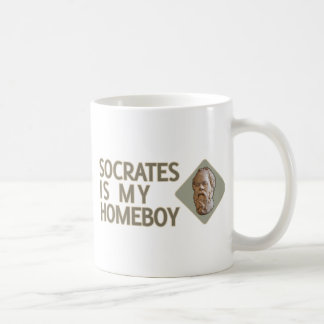 Socrates is my Homeboy Classic White Coffee Mug