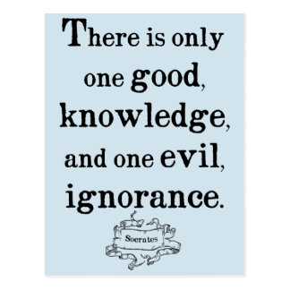 Socrates Knowledge/Ignorance Quote Postcard