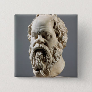 Socrates, marble head, copy from a bronze from the 15 cm square badge