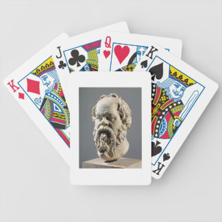 Socrates, marble head, copy from a bronze from the bicycle playing cards