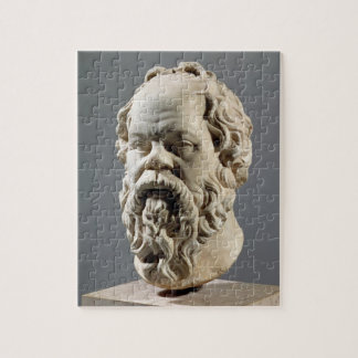Socrates, marble head, copy from a bronze from the jigsaw puzzle