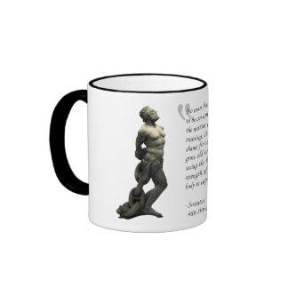 Socrates - Physical Training Ringer Coffee Mug