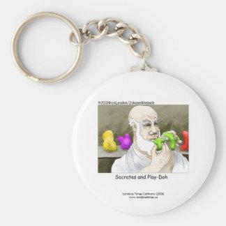 Socrates & Play-doh Novelty Funny Keychain