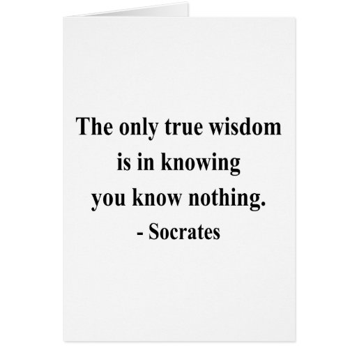 Socrates Quote 3a Greeting Card