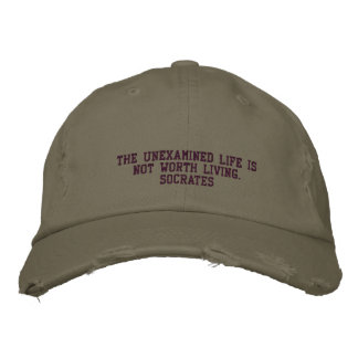 Socrates Quote - HAT Embroidered Hat