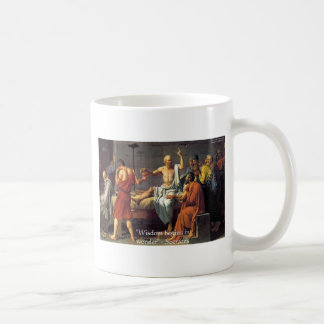 "Socrates ""Wisdom/Wonder"" Quote Gifts Tees & Cards Coffee Mug"