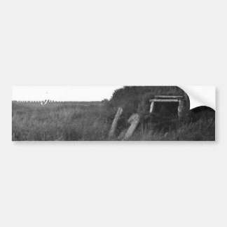 Sod House Remains on Tundra Car Bumper Sticker