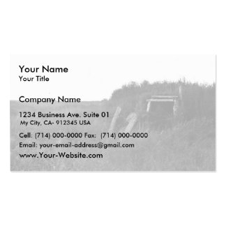 Sod House Remains on Tundra Business Card Templates