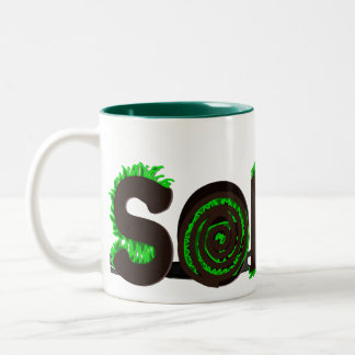 """Sod It"" Grass Sod Design Coffee Mugs"