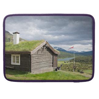 Sod roof log cabin in Norway Sleeves For MacBooks