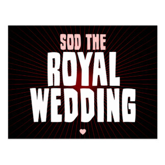 Sod The Royal Wedding Postcard