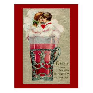 Soda Couple Postcard