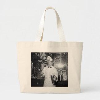 Soda Jerk, 1930s Jumbo Tote Bag