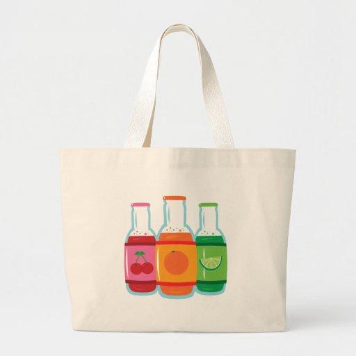 Soda Pop Bottles Canvas Bags