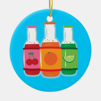 Soda Pop Bottles Christmas Ornament
