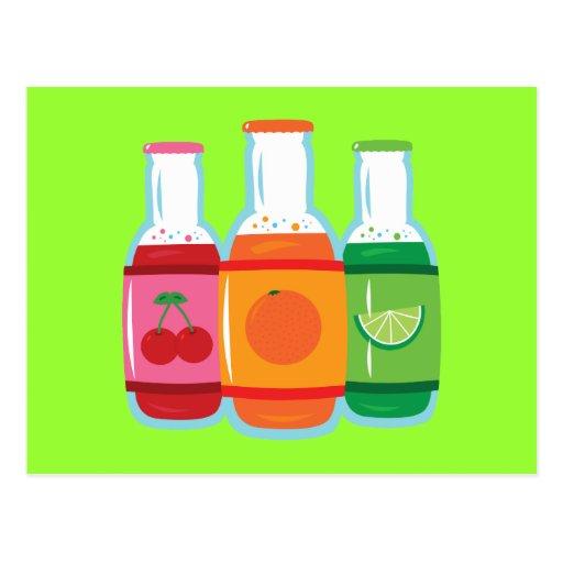 Soda Pop Bottles Postcards