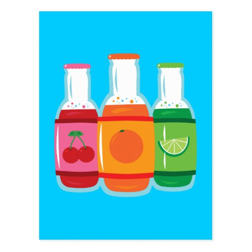 Soda Pop Bottles Postcard