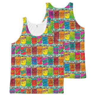 Soda Pop Cans All-Over Print Tank Top