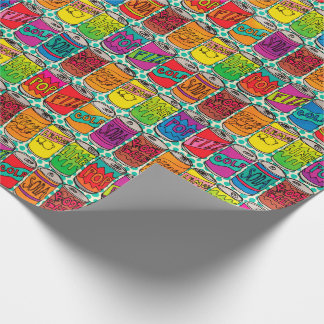 Soda Pop Cans Wrapping Paper