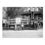 Soda Pop Delivery Truck, early 1920s Postcard