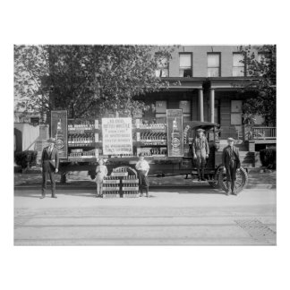 Soda Pop Delivery Truck, early 1920s Poster